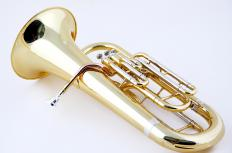 A euphonium is a brass instrument that resembles a tuba.