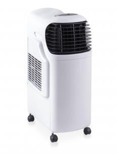 Some portable air conditioners incorporate evaporative technology, which uses water to cool and humidify an area.