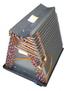 Evaporator coils are used in combination with condensors to cool hot air.