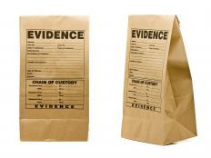 Evidence collected at a crime scene is stored in a secure room.