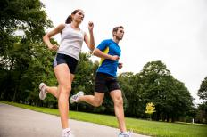 Jogging provides an aerobic workout.