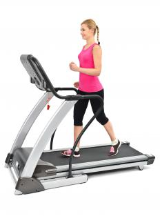 Those walking on treadmills should avoid loose shoe strings or baggy clothing that could get caught in the machine.
