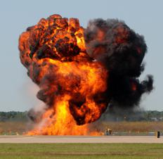 Blast injuries occur when people are too close to an explosion.