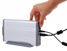 An external hard drive.
