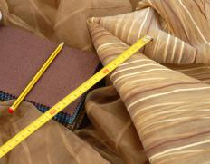 Upholstered items are covered in fabric.
