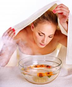 Inhaling steam from a bowl of boiling water is therapeutic for relieving eye pressure caused by sinuses.