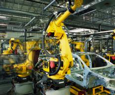 Mechanical engineers are involved in developing machines and manufacturing products.
