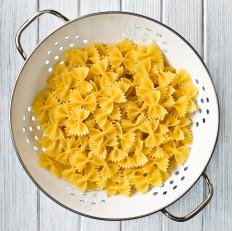 Farfalle pasta comes in different sizes, but will always have the bow-tie or butterfly shape.