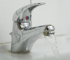 Sinks and faucets are usually sold separate from vanitys.