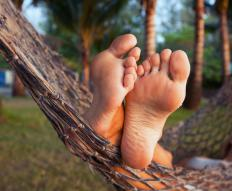 Hammocks are sleeping contraptions that are used for a person's relaxation.