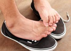 Antifungal cream may be used to treat athlete's foot.