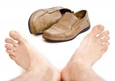 Ill-fitting shoes may cause the development of a ganglion foot cyst.