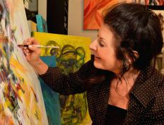 Some artists may demonstrate their skills live during a Second Saturday event.