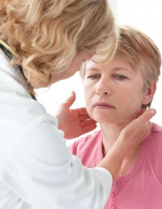 Swollen glands or fever may indicate that a bursitis has become infected.