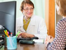 In cases where breast cancer is suspected, the physician will order a battery of tests to assess the patient's status.