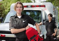 Ambulances are equipped with EMTs.