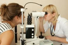 Prolonged high blood sugar may cause vision problems in diabetics.