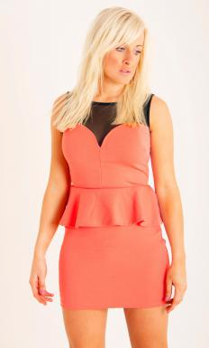 Peplum dresses accentuate the body's curves.