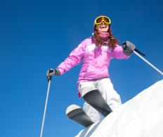 Twin-tip skis offer stability and are adaptable for use on a wide variety of terrain.