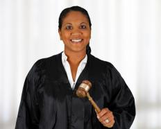 A hearing officer acts in the role of a judge.