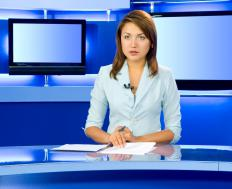 A television news journalist might deliver on-air reports.