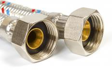 Thread couplers are sometimes used to connect threaded pipes together.