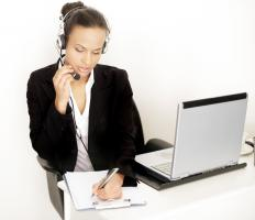 A personal assistant often screens phone calls and takes messages for a busy executive.