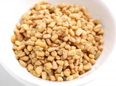 A bowl of fenugreek seeds.