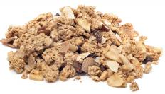 Regular granola usually contains grains, which are carbohydrates.