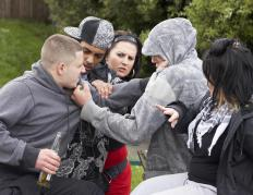 Juvenile delinquents are more at risk for getting involved in fights.