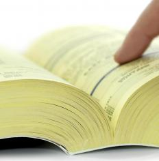 The Yellow Pages list contact information for businesses in a specific area.
