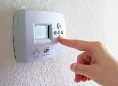 Most thermostats are simply covered with a piece of plastic.