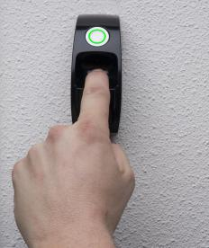 Fingerprint scanners use a pattern algorithm to determine an individual's fingerprint.