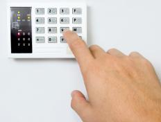 In most cases, an alarm keypad on a burglar alarm calls a monitoring station when an alarm sounds.