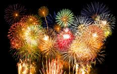 Aluminum powder is used in the creation of fireworks displays.
