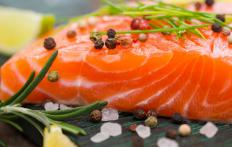 Salmon are among the many fish rich in DHA.