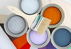 Some masonry paints are oil-based, while others are latex- or alkyd-based.
