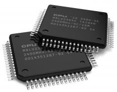 Two flash memory chips.