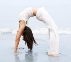 Some people gain flexibility by learning yoga.