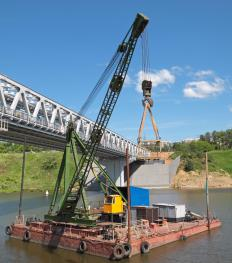 Floating cranes have a variety of capabilities on the water.