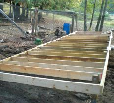 Floor joists on new construction.