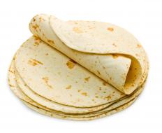 Flour tortillas can be used to make tacos.