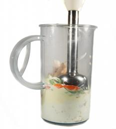 A stainless steel food processor is easy to clean.