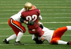 Football players are at risk for brain contusions.