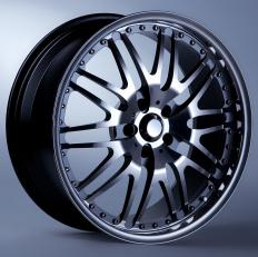 Mag wheels are lighter than steel wheels and commonly used on racing cars.