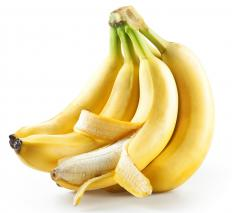 Certain foods, such as bananas, are high in fiber.