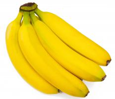 Bananas, which are used to make the flambe dessert bananas Foster.