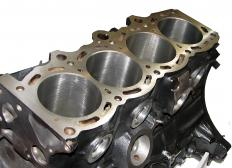 Four-cylinder engine block.