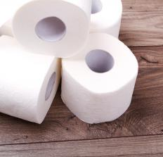 Bathroom cabinet organizers might store extra rolls of toilet paper.