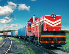 Freight forwarders use various transportation modes, including rail.